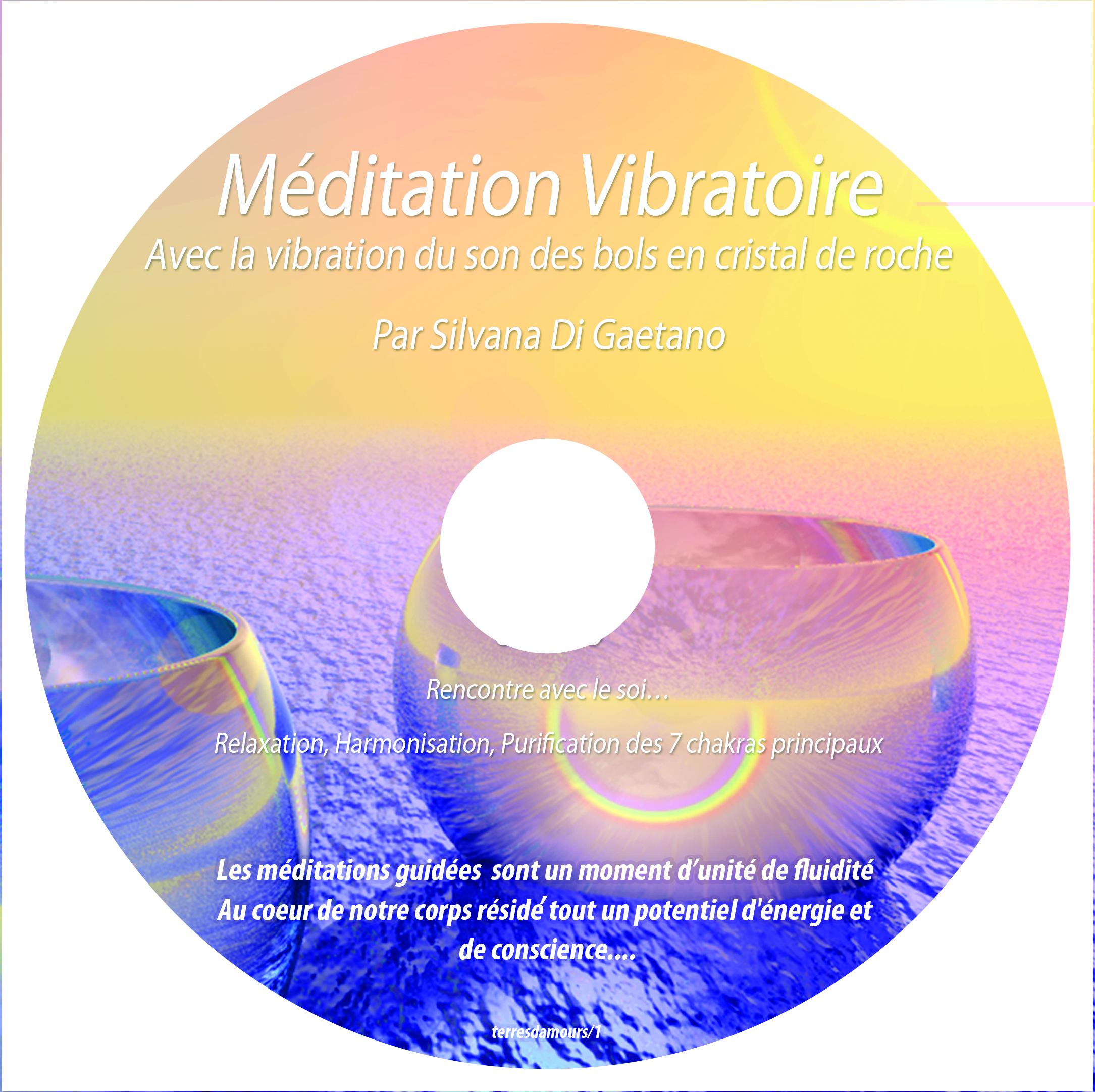 CD de Méditation Vibratoire avec le son des bols en cristal de roche