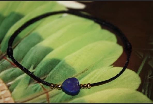 Bracelet ROMA fil coton & soie Pendentif traditionnel Colombie