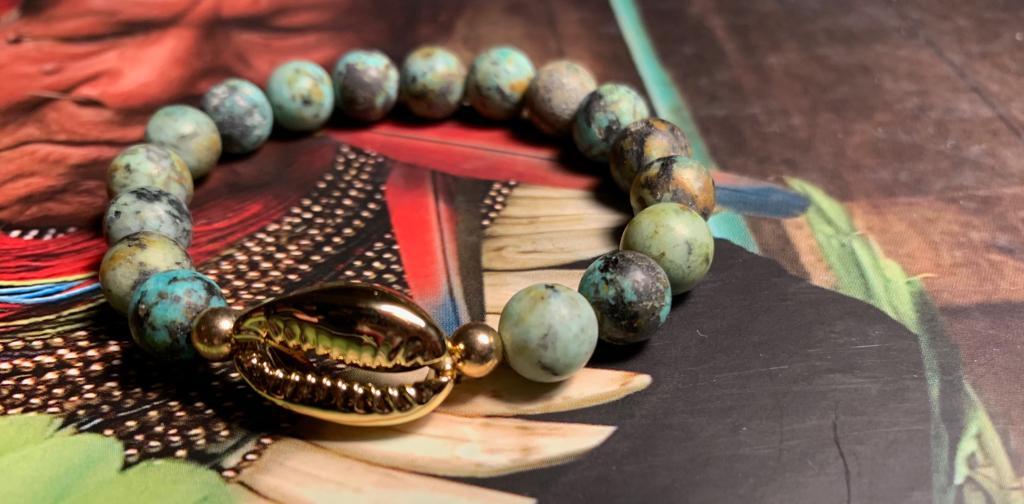 Bracelet Kaparda Turquoise brute