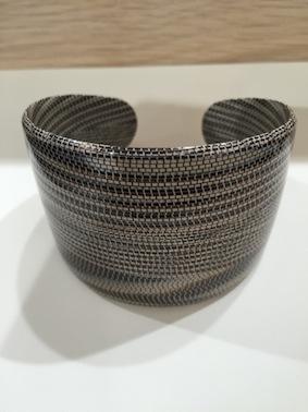 Bracelet acétate souple large python