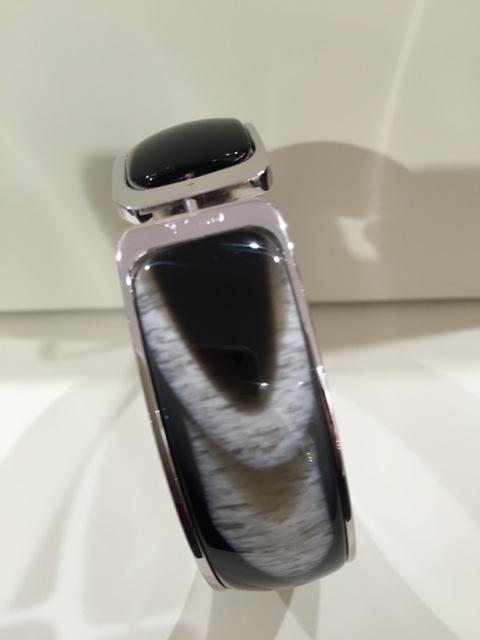 Bracelet large métal corne
